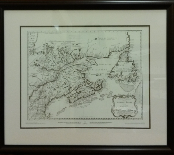 """A sketch of The River Exploits and The east end of Lieutenant's Lake in Newfoundland"" by Royal Navy lieutenant John Cartwright (Reproduction of 1775 hand-drawn original). Shows the area from the Bay of Exploits to Red Indian Lake where Gov. Palliser sent Cartwright to bring about friendly relations with the Beothuk. Size: approx. 30""X26"""