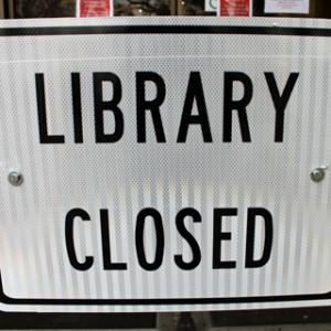 libraryclosedsign
