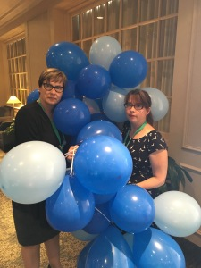 Library supporters paraded with 54 balloons, one for each of the NLPL branches scheduled to close