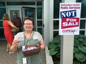 CUPE worker, Catherine Hynes, at Corner Brook Public Library