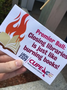 Closing Libraries is just like burning books!